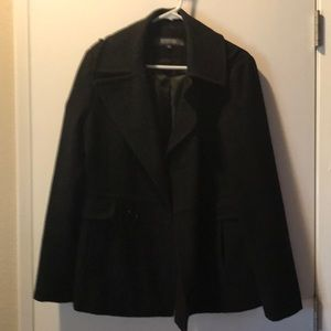 Black Kenneth Cole pea coat
